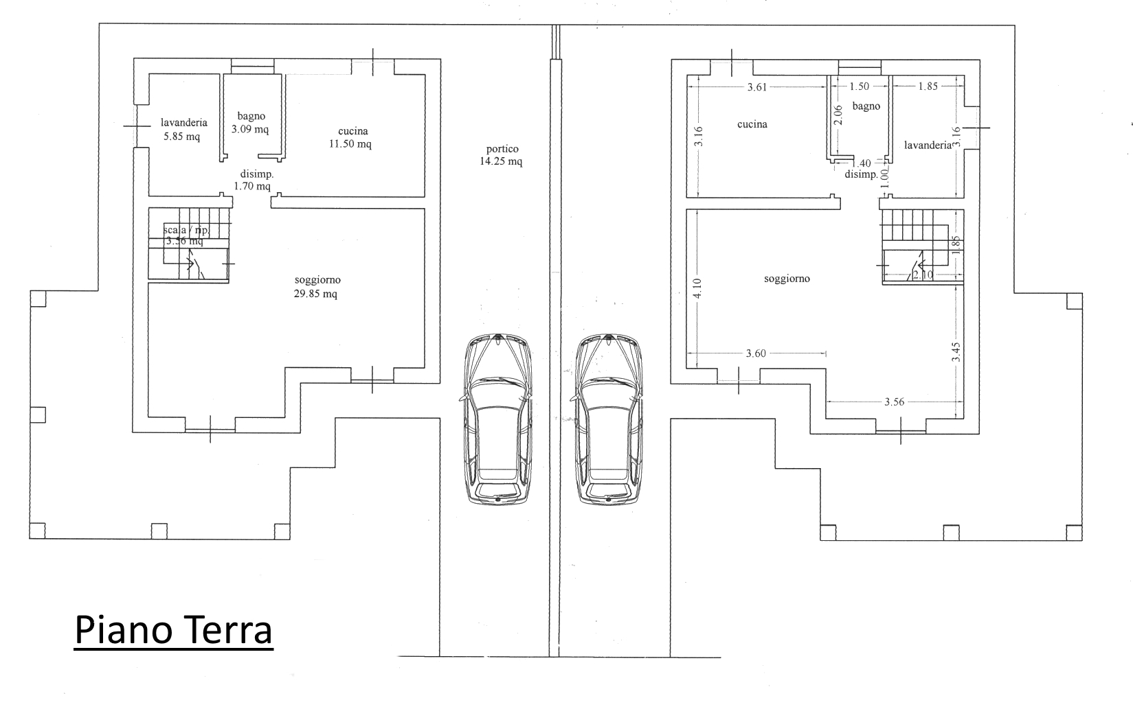 Villetta bifamiliare in vendita, rif. 02258 (Planimetria 1/2)