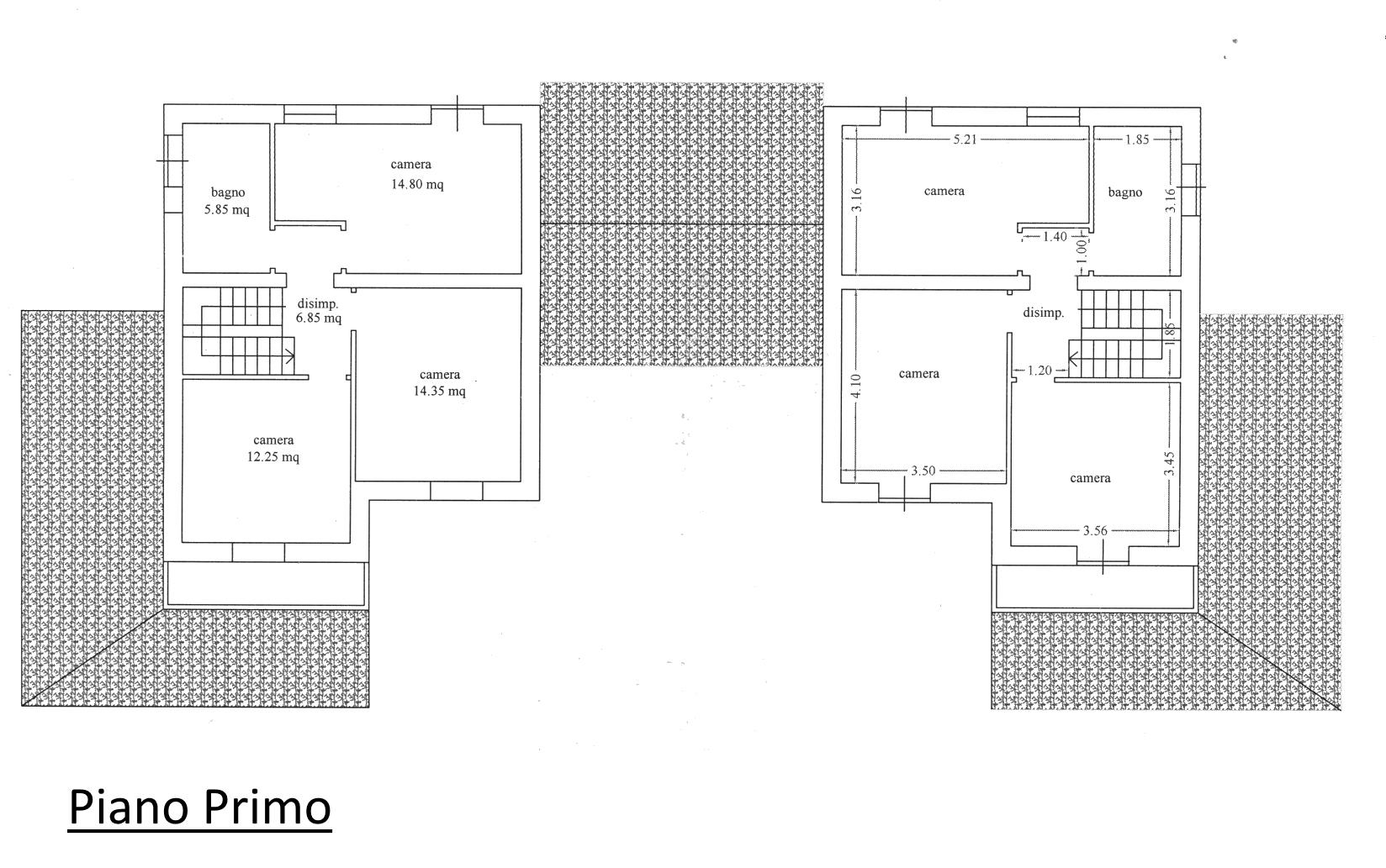 Villetta bifamiliare in vendita, rif. 02258 (Planimetria 2/2)