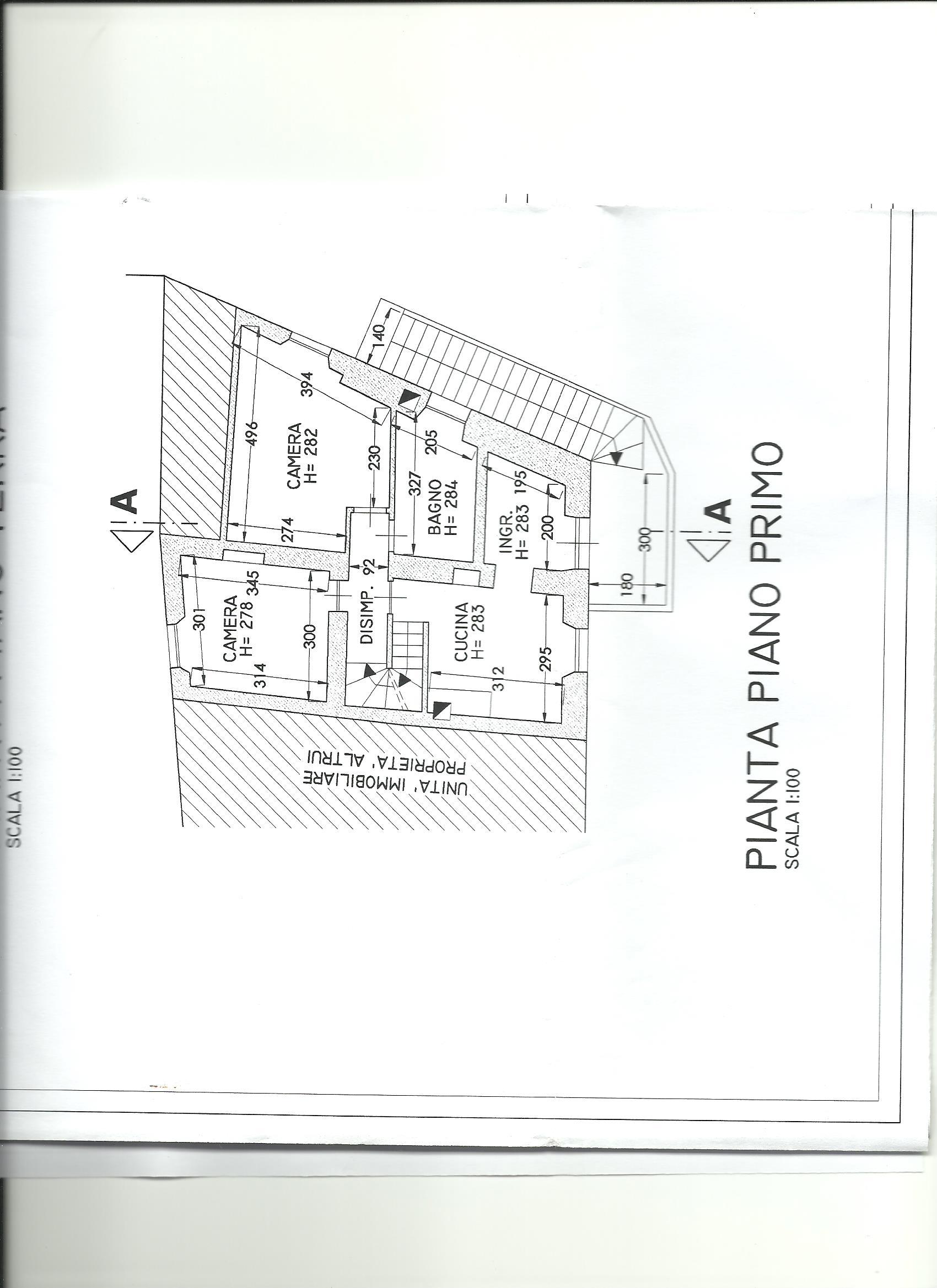 Terratetto in vendita, rif. 02266 (Planimetria 2/4)