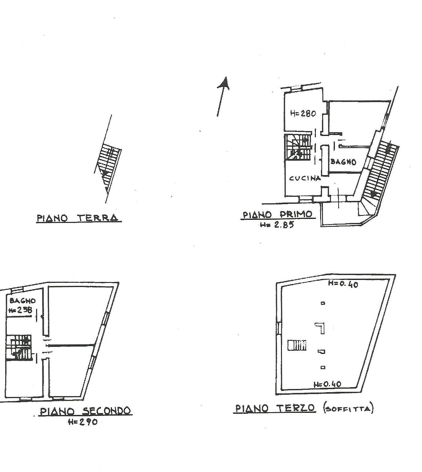 Terratetto in vendita, rif. 02266 (Planimetria 1/4)
