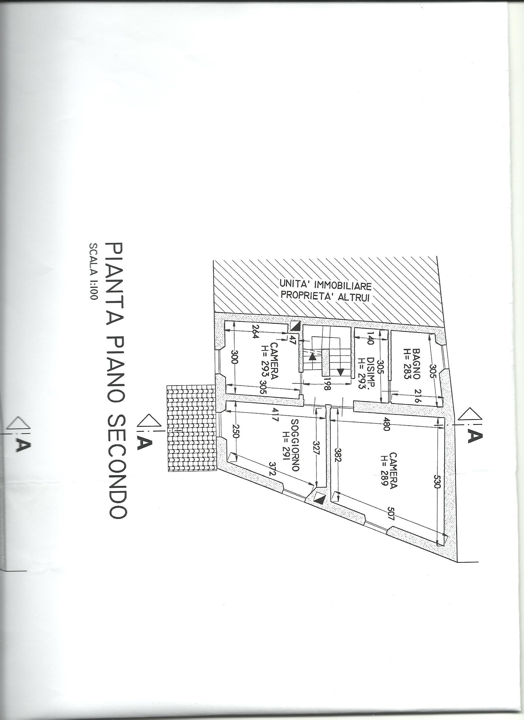 Terratetto in vendita, rif. 02266 (Planimetria 3/4)