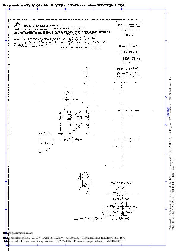 Terratetto in vendita, rif. 02291 (Planimetria 3/5)