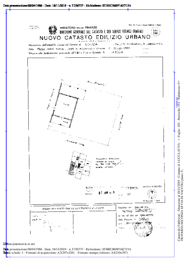 Terratetto in vendita, rif. 02291 (Planimetria 1/5)