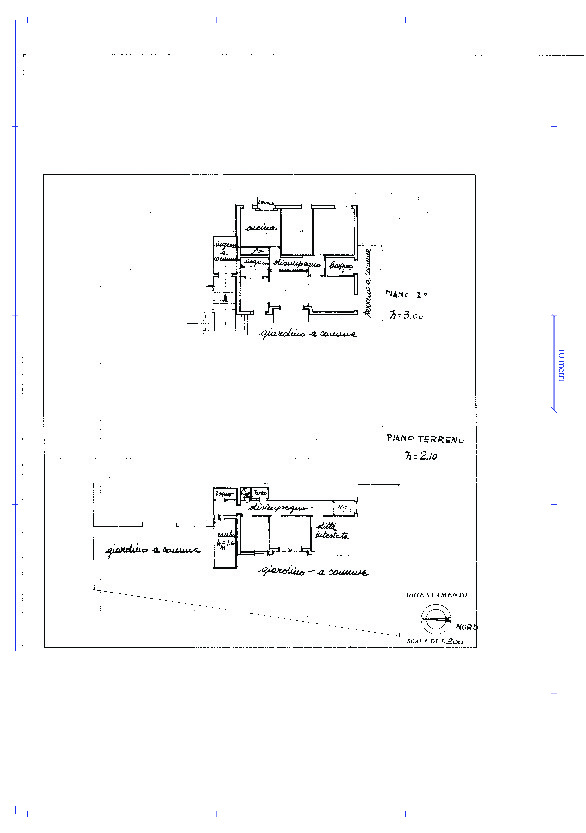 Appartamento in vendita, rif. 02313 (Planimetria 1/2)