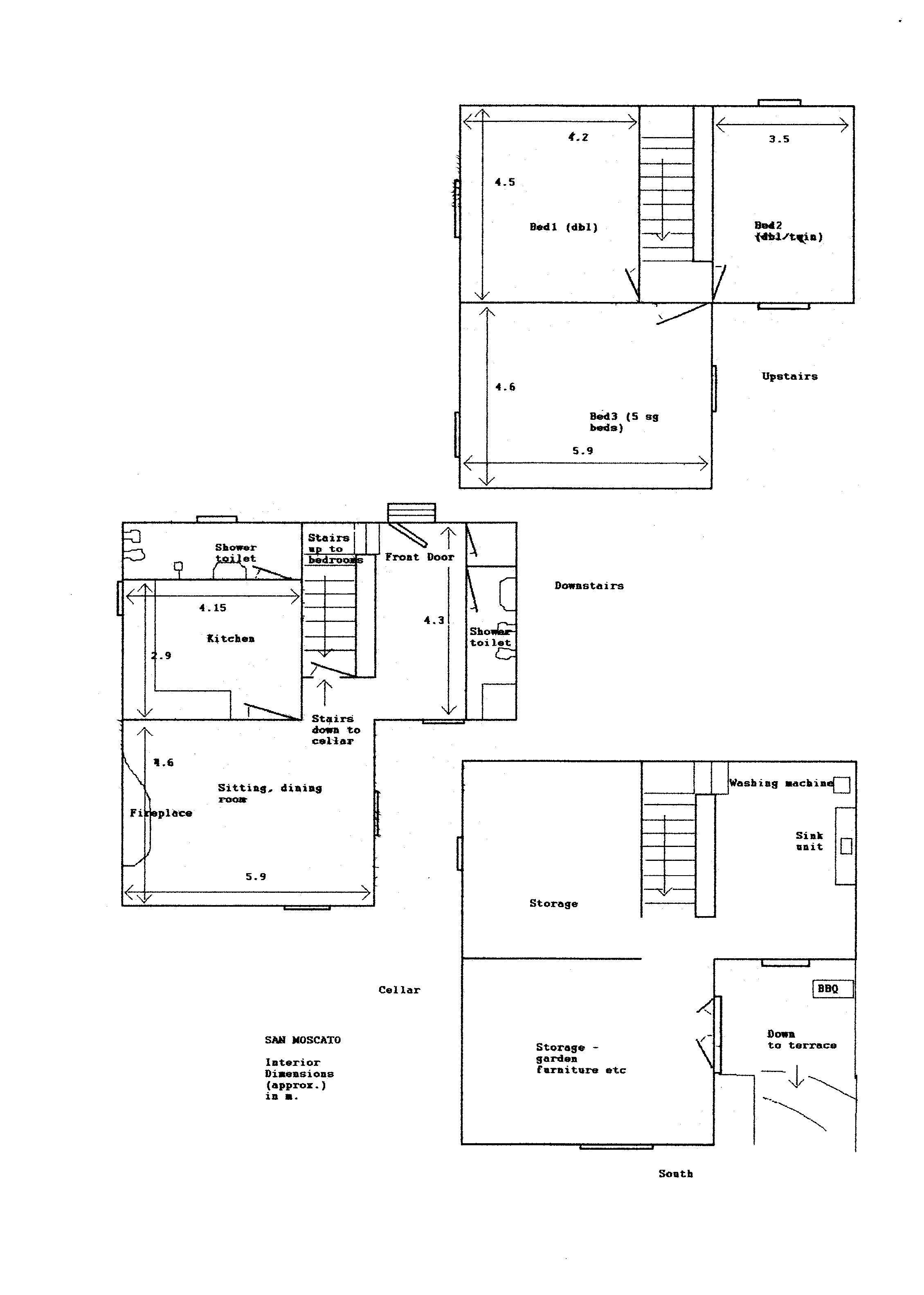 Rustico in vendita, rif. 02324 (Planimetria 1/2)