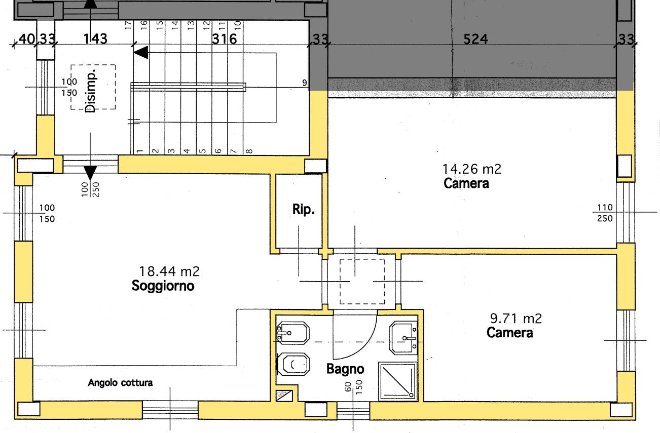 Appartamento in vendita, rif. 02336 (Planimetria 1/1)