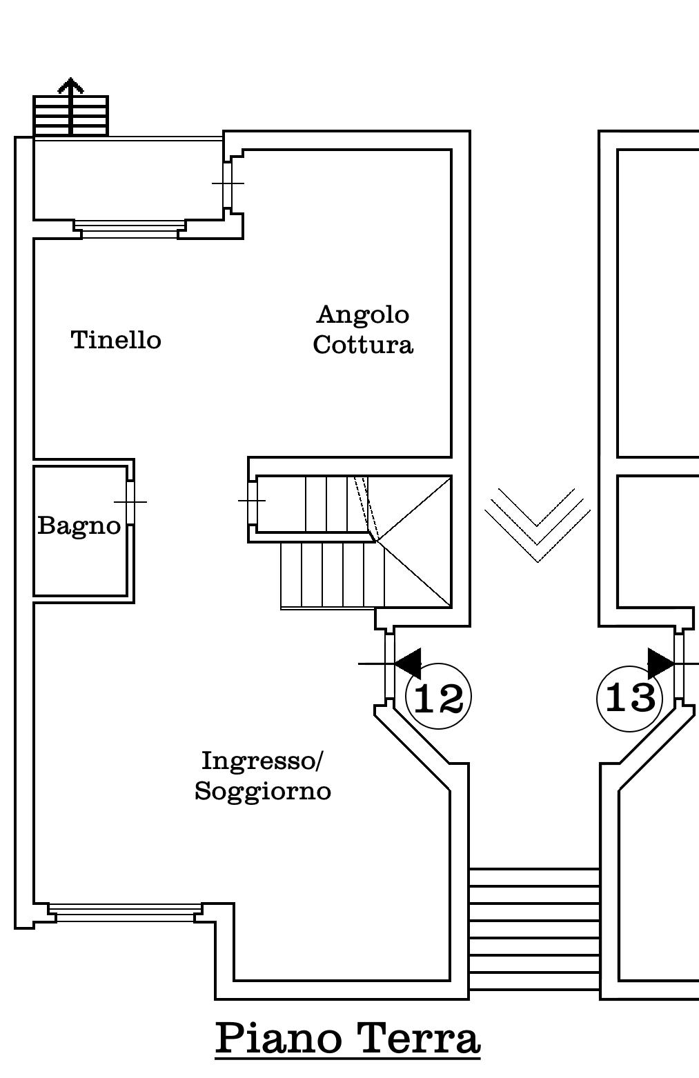 Villetta a schiera in vendita, rif. 02338 (Planimetria 2/4)