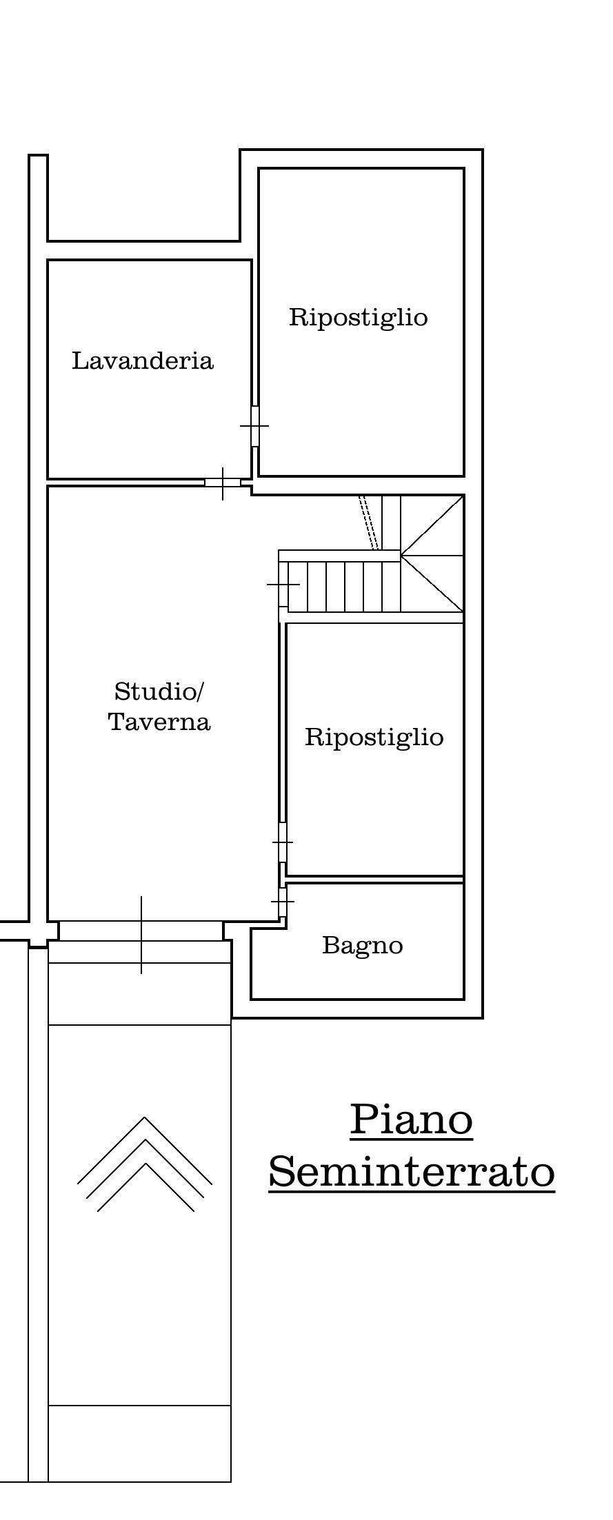 Villetta a schiera in vendita, rif. 02338 (Planimetria 1/4)