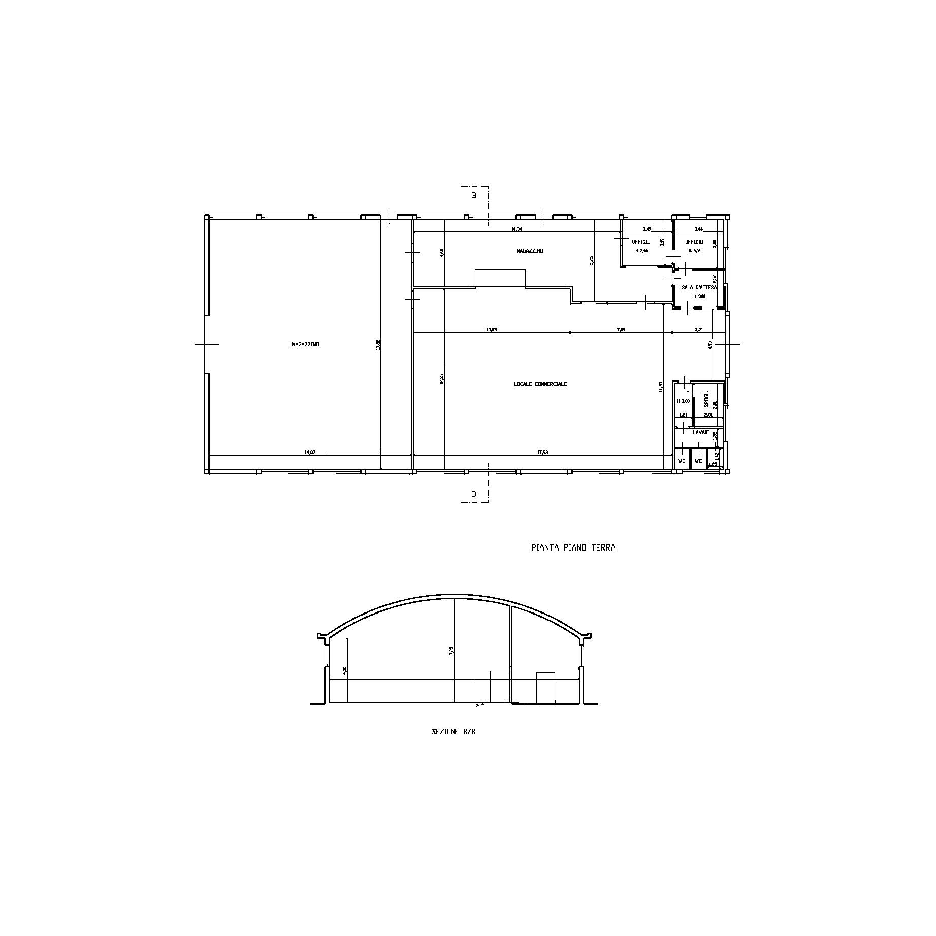 Capannone commerciale in vendita, rif. 02372 (Planimetria 1/2)