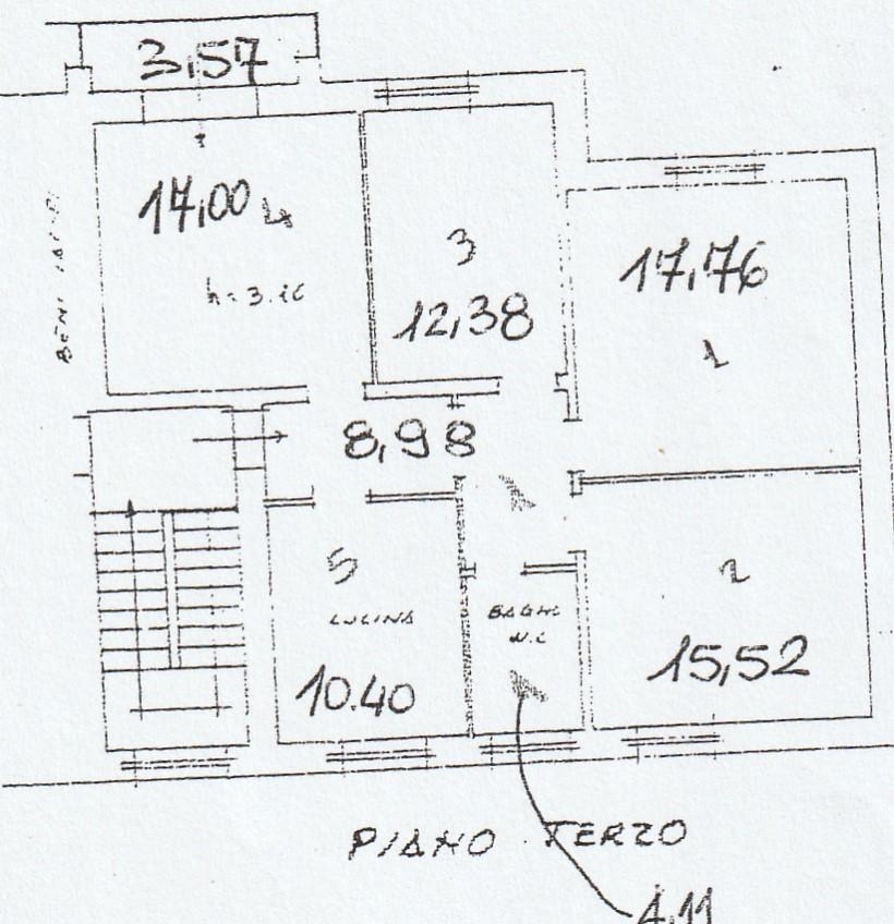 Appartamento in vendita, rif. 02394 (Planimetria 2/3)