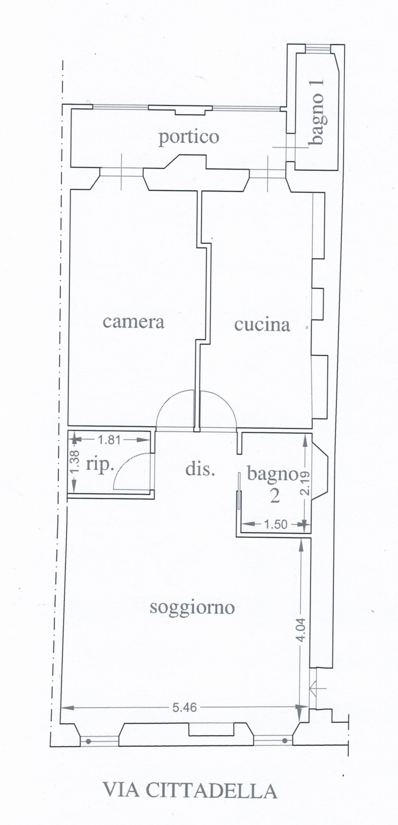 Appartamento in vendita, rif. 02405 (Planimetria 1/1)