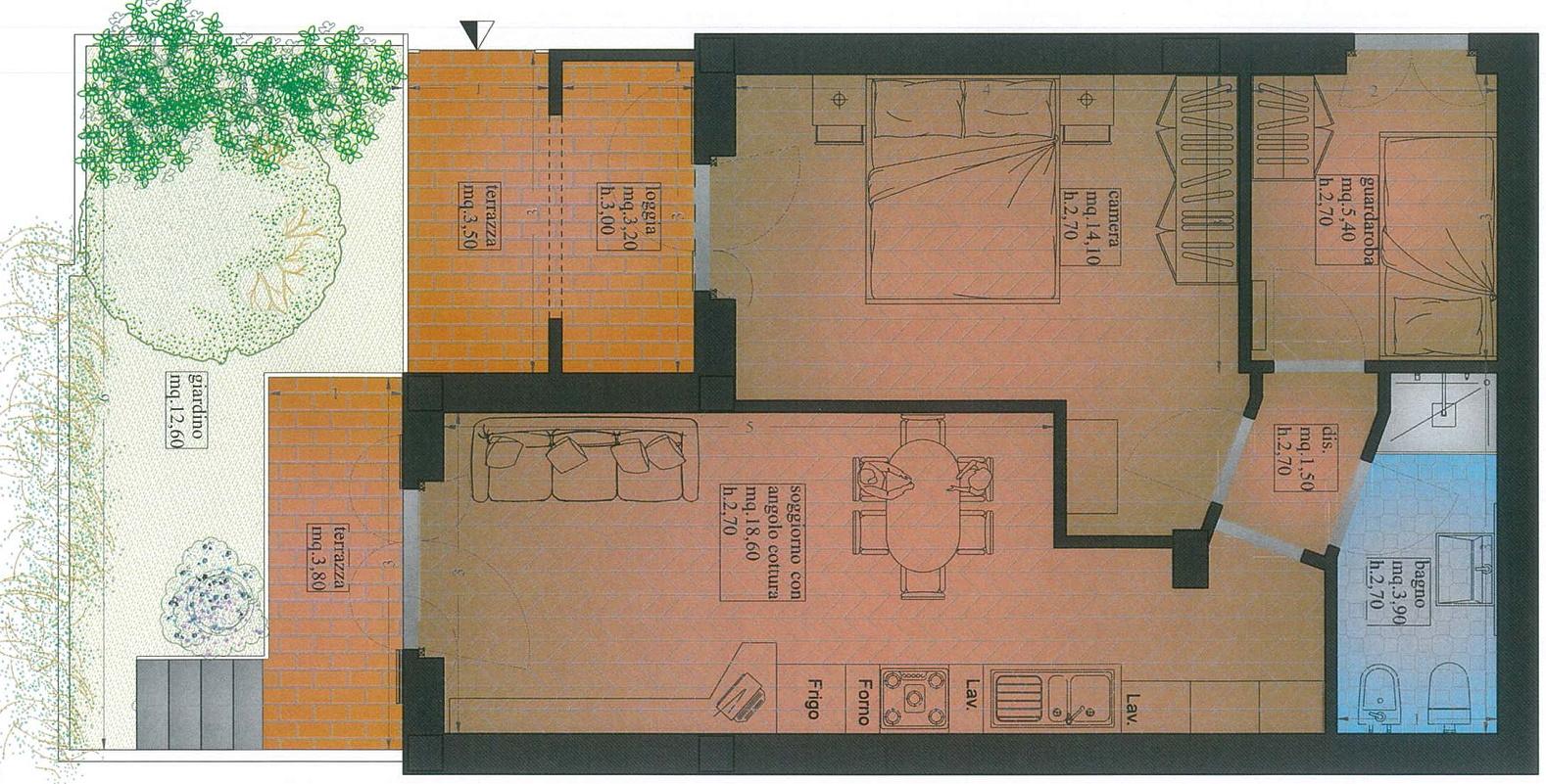Appartamento in vendita, rif. 02414 (Planimetria 3/3)