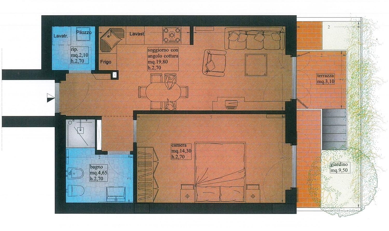 Appartamento in vendita, rif. 02414/2 (Planimetria 2/2)