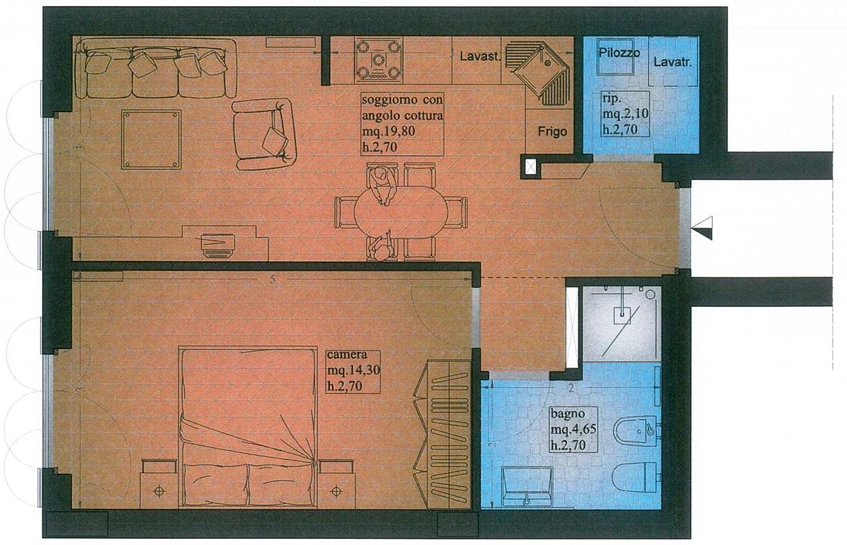 Appartamento in vendita, rif. 02414/2 (Planimetria 1/2)
