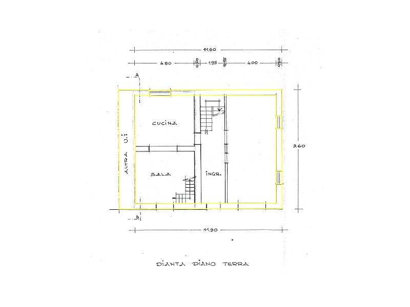 Terratetto in vendita, rif. 02422 (Planimetria 1/3)