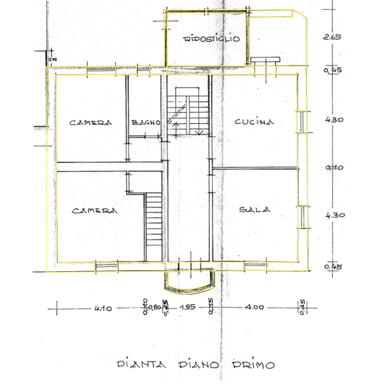 Terratetto in vendita, rif. 02422 (Planimetria 2/3)