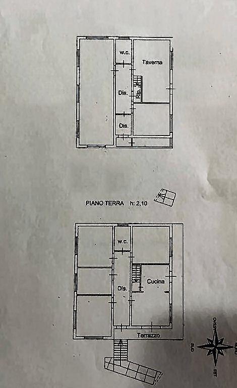 Villa singola in vendita, rif. 02424 (Planimetria 2/3)