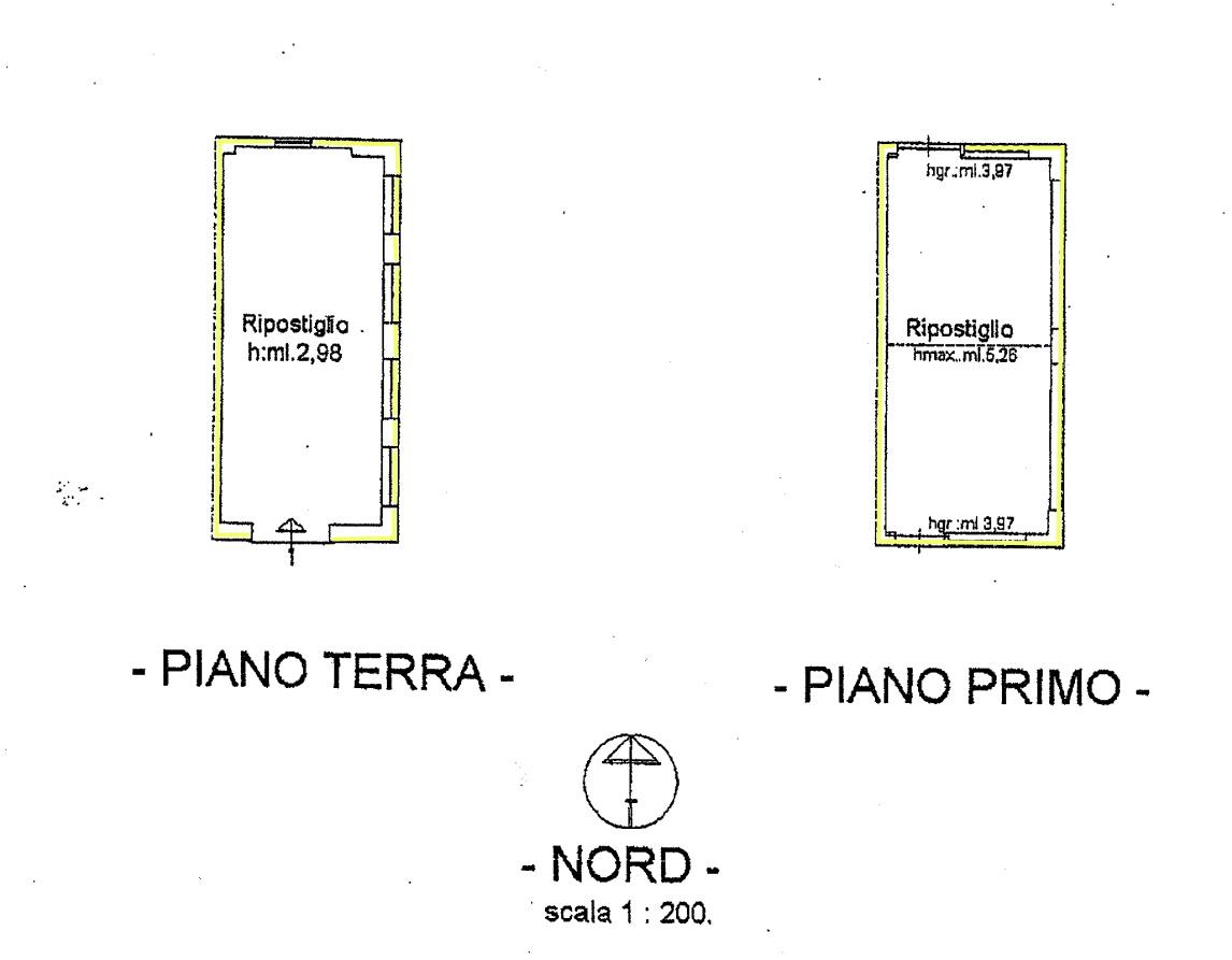 Rustico in vendita, rif. 02447 (Planimetria 3/4)