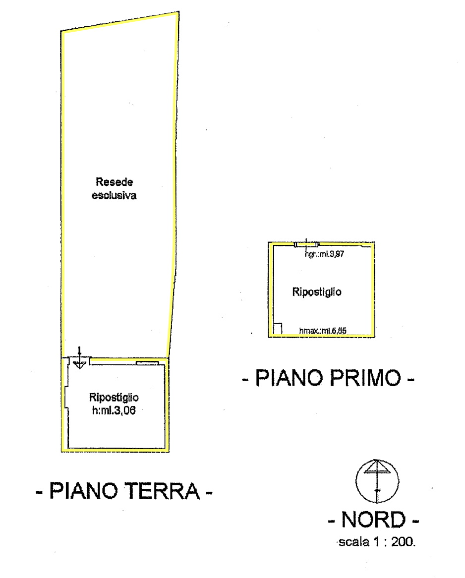 Rustico in vendita, rif. 02447 (Planimetria 1/4)