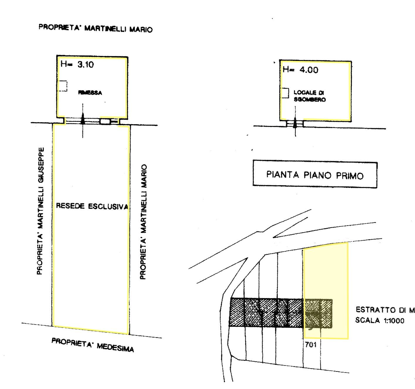 Rustico in vendita, rif. 02448 (Planimetria 1/2)