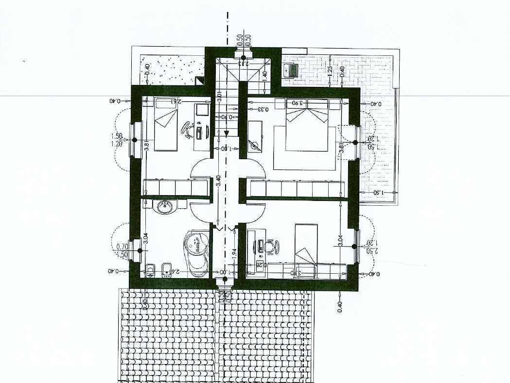 Villetta bifamiliare in vendita, rif. 02454 (Planimetria 1/3)