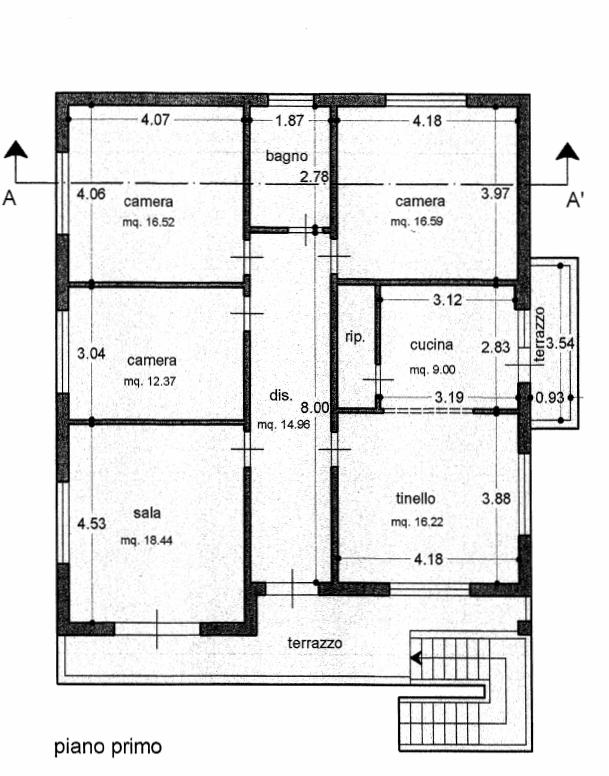 Villa singola in vendita, rif. 02456 (Planimetria 2/4)