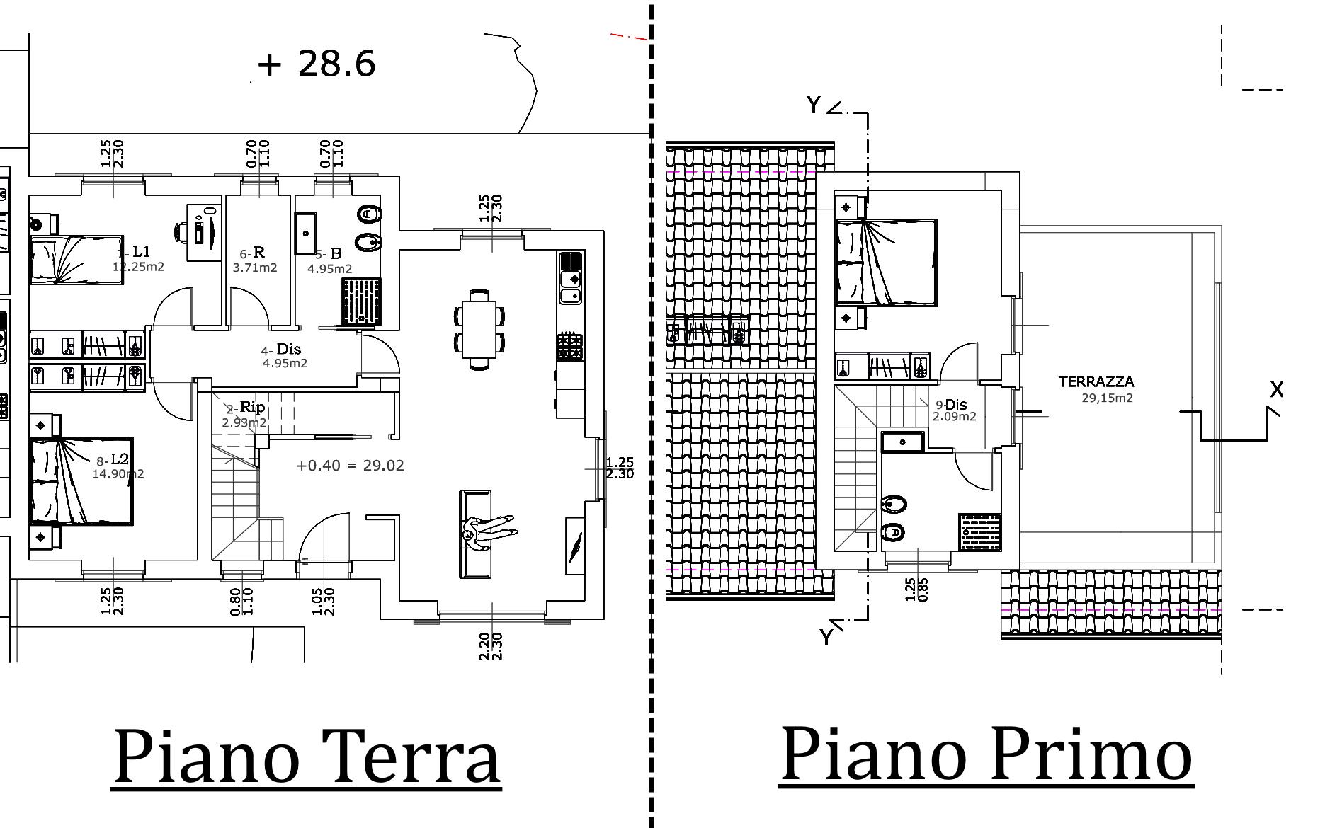 Villetta bifamiliare in vendita, rif. 02457 (Planimetria 1/1)