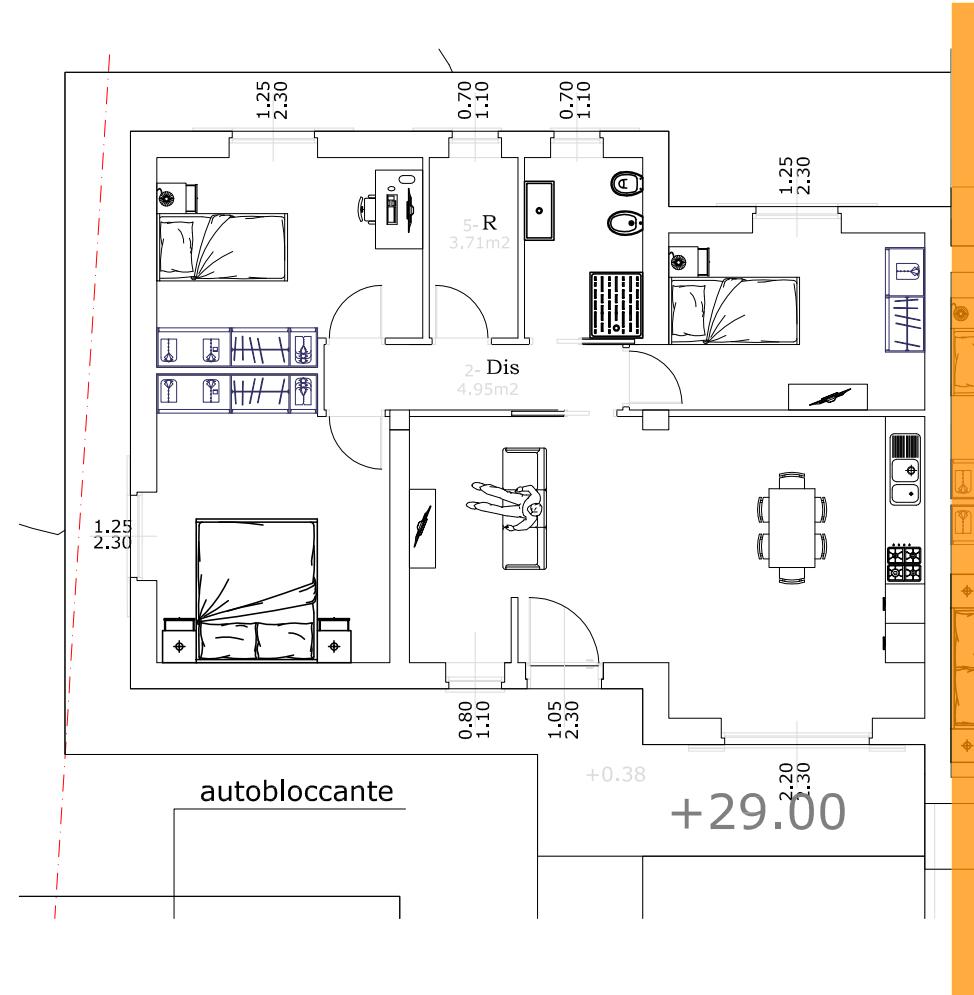 Villetta bifamiliare in vendita, rif. 02458 (Planimetria 1/1)