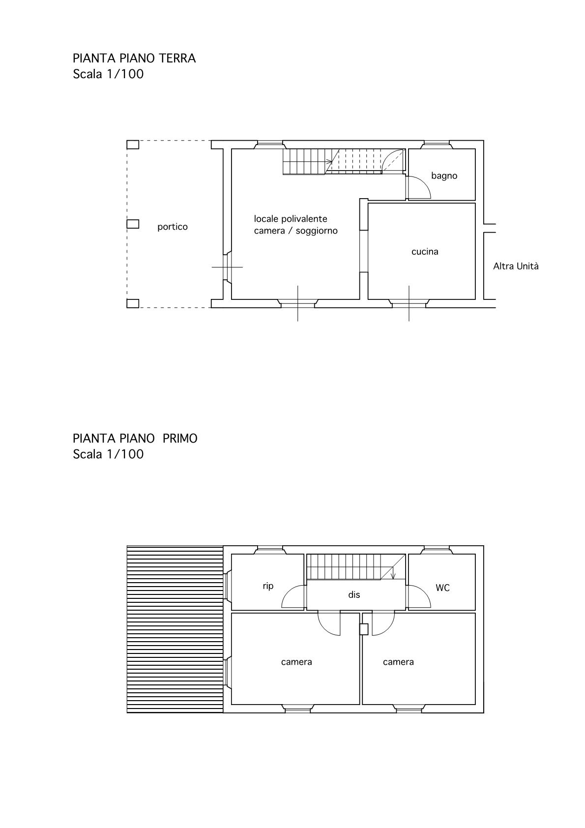 Villetta a schiera angolare in vendita, rif. 02487 (Planimetria 2/2)