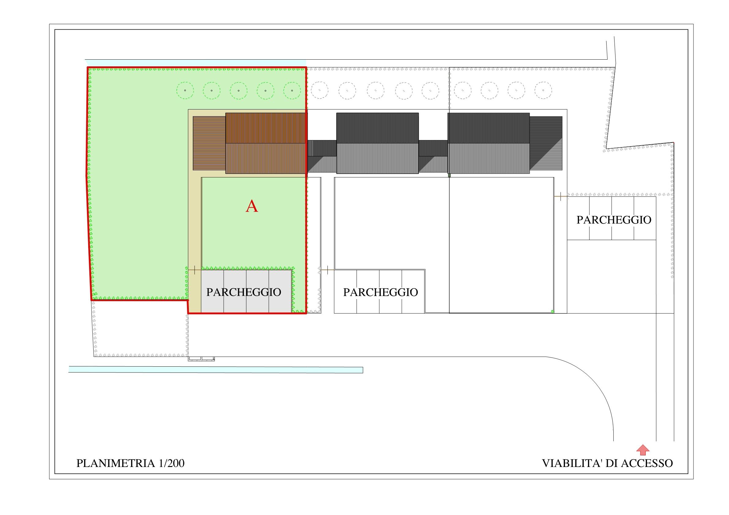 Villetta a schiera angolare in vendita, rif. 02487 (Planimetria 1/2)