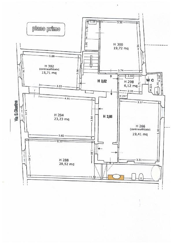 Appartamento in vendita, rif. 02492 (Planimetria 2/3)