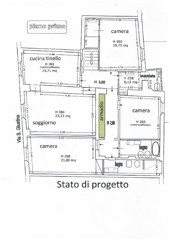 Appartamento in vendita, rif. 02492 (Planimetria 1/3)