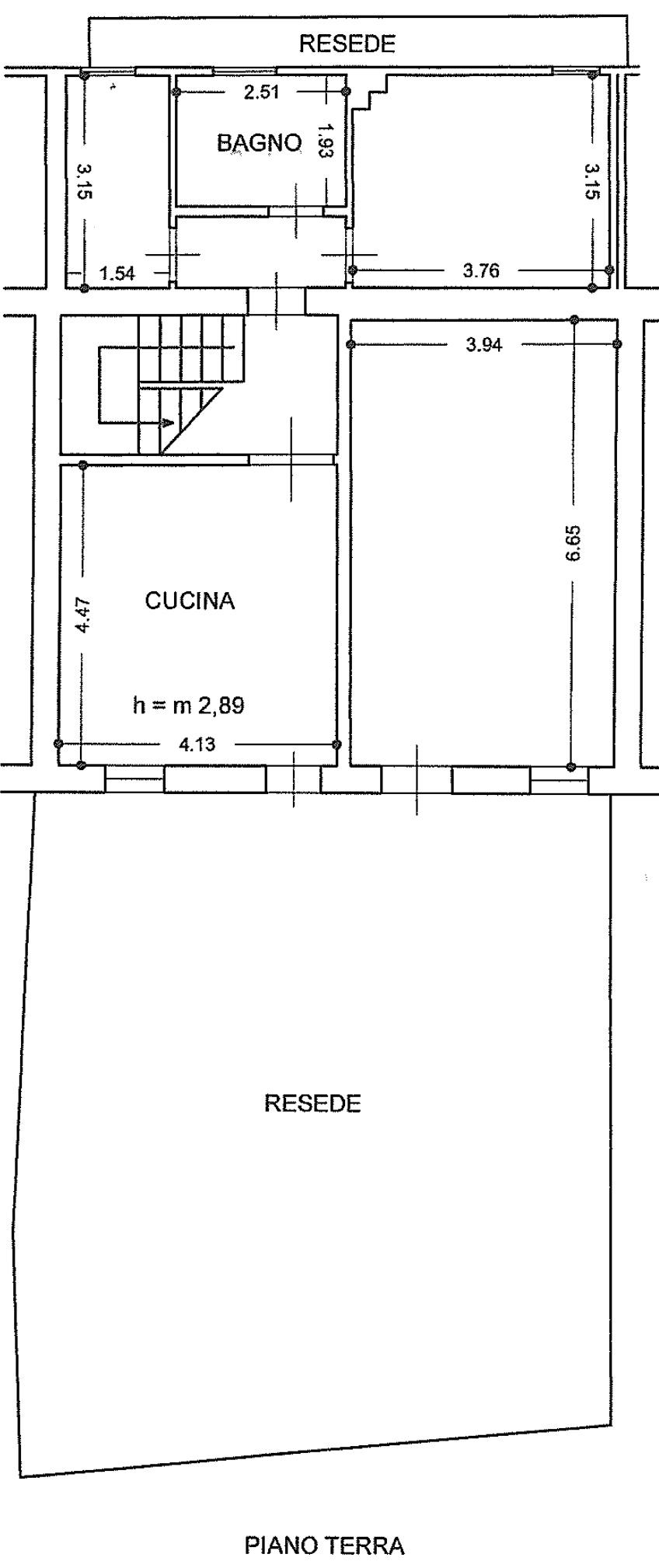 Terratetto in vendita, rif. 02514 (Planimetria 1/4)