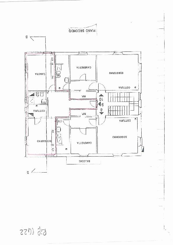 Planimetria 1/1 per rif. 1422