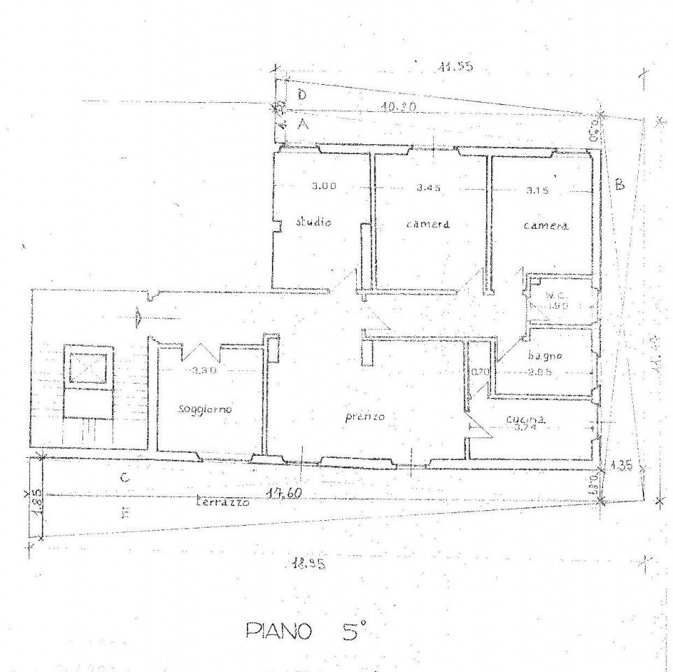 Planimetria 1/1 per rif. F038S