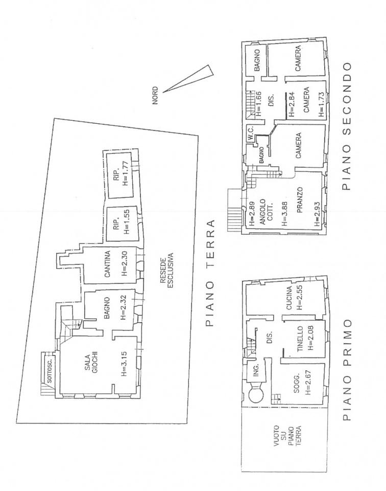Planimetria 1/1 per rif. N031SU