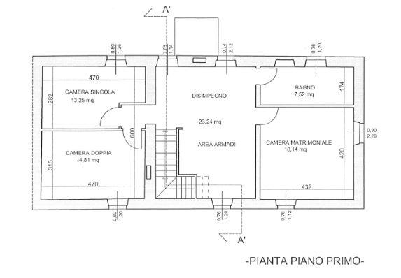Planimetria 2/2 per rif. E004R