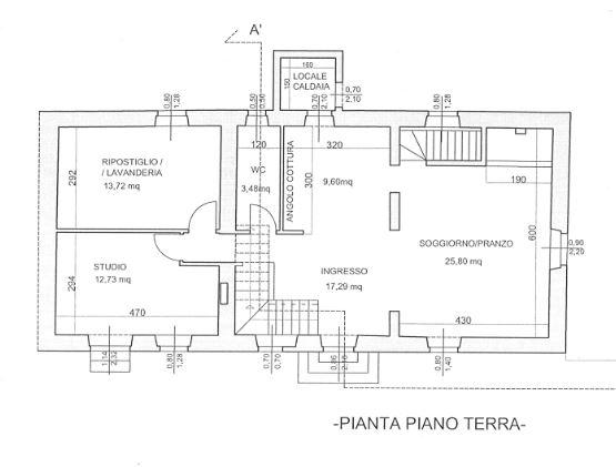 Planimetria 1/2 per rif. E004R