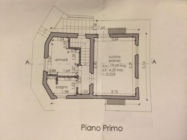 Planimetria 2/3 per rif. E008J