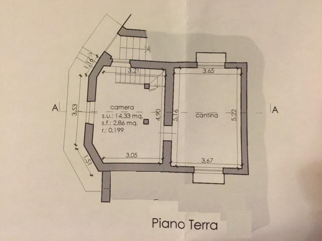 Planimetria 1/3 per rif. E008J