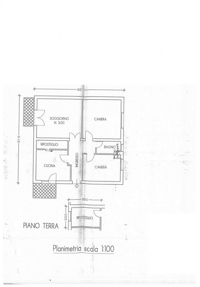 Planimetria 1/1 per rif. E017SU