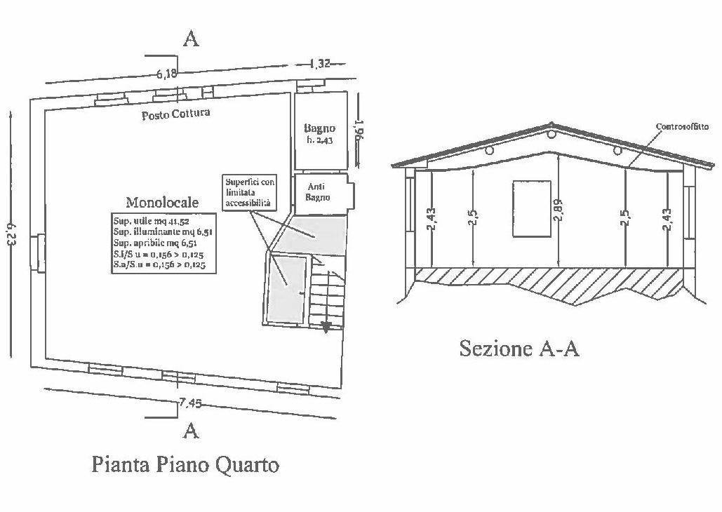 Planimetria 1/1 per rif. E013S