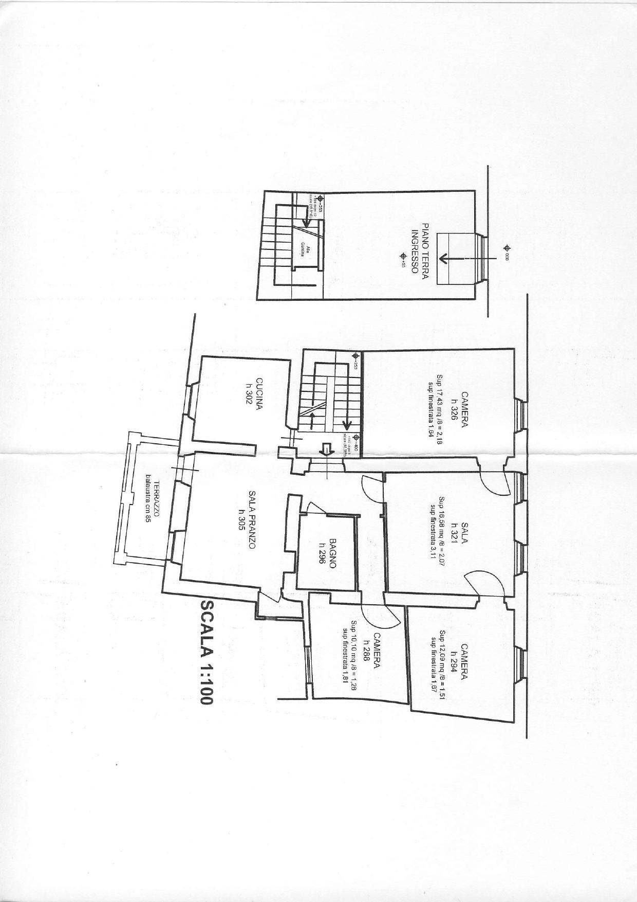 Planimetria 1/1 per rif. F0010S