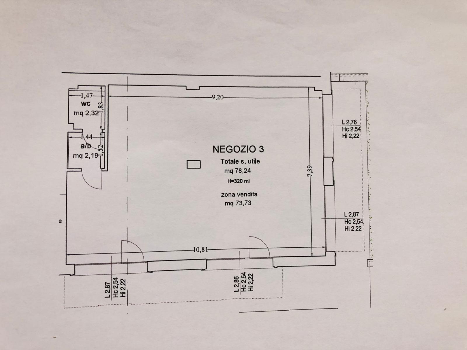 Planimetria 1/1 per rif. E026S