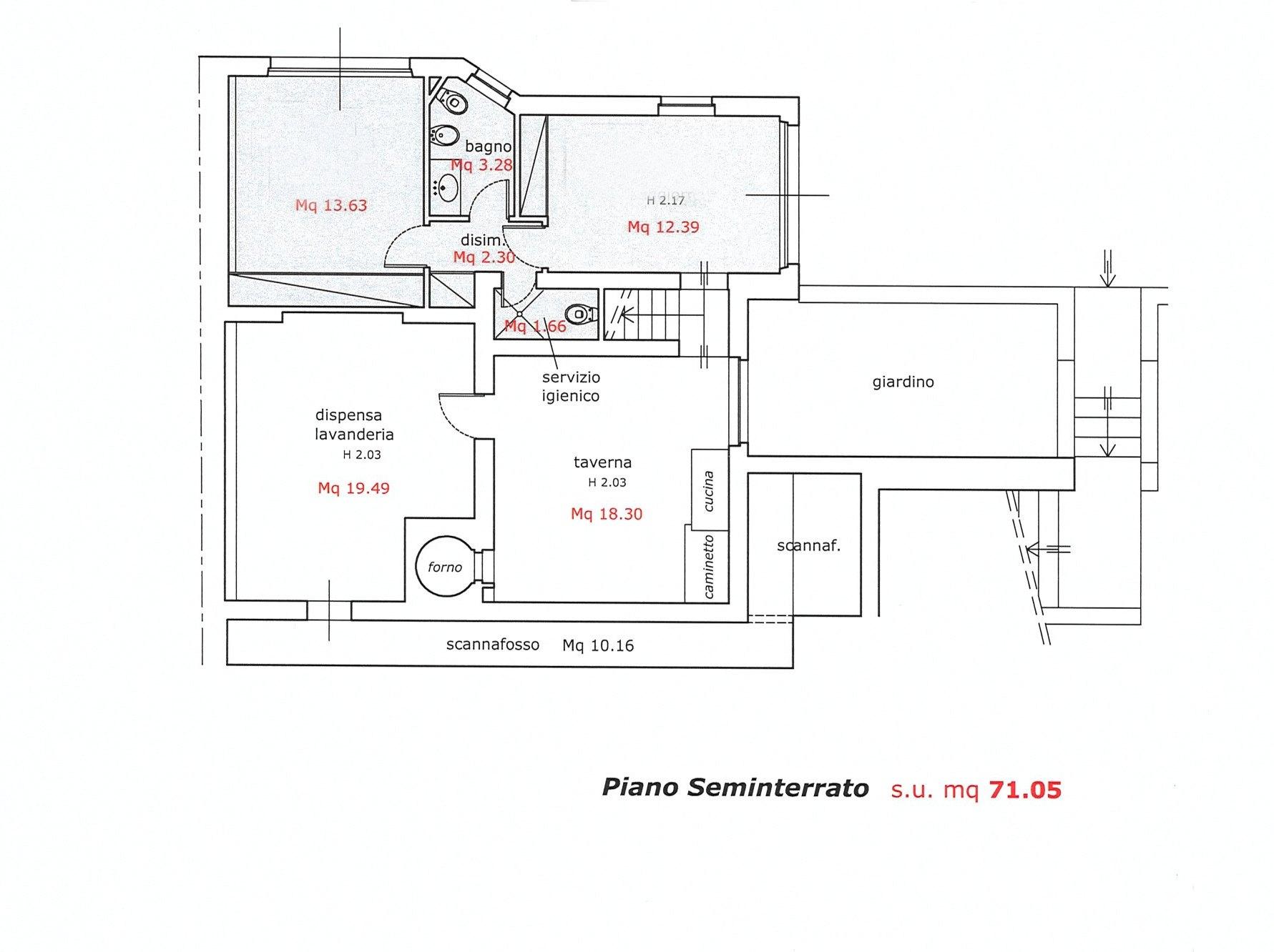 Planimetria 1/3 per rif. E049J