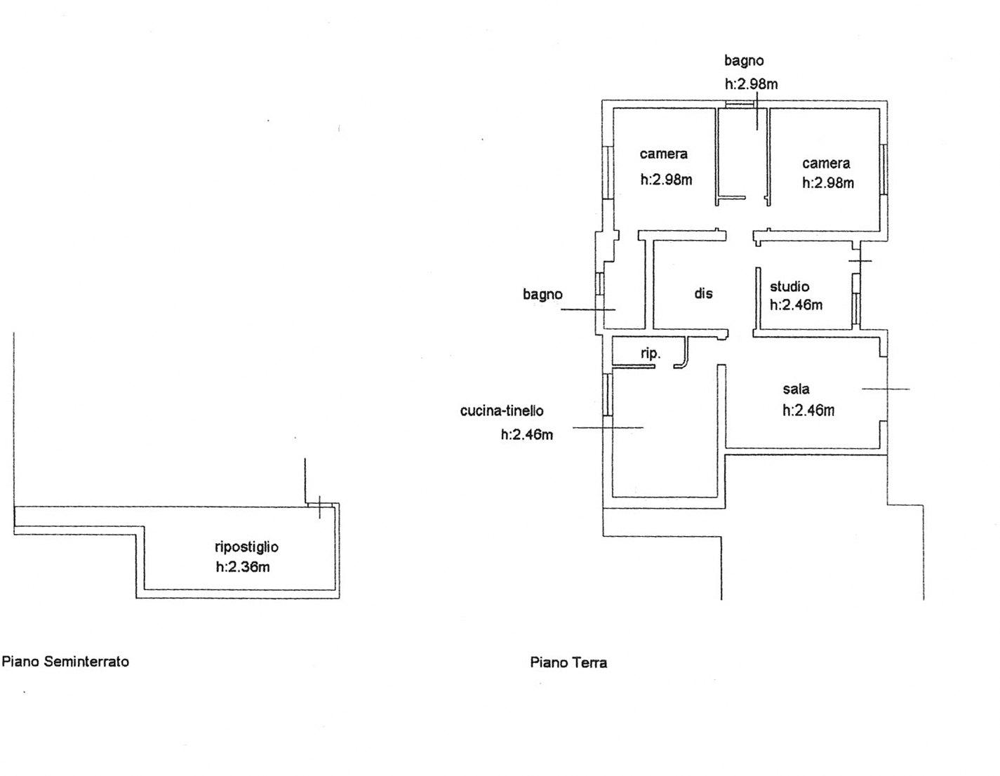 Planimetria 1/2 per rif. E001R