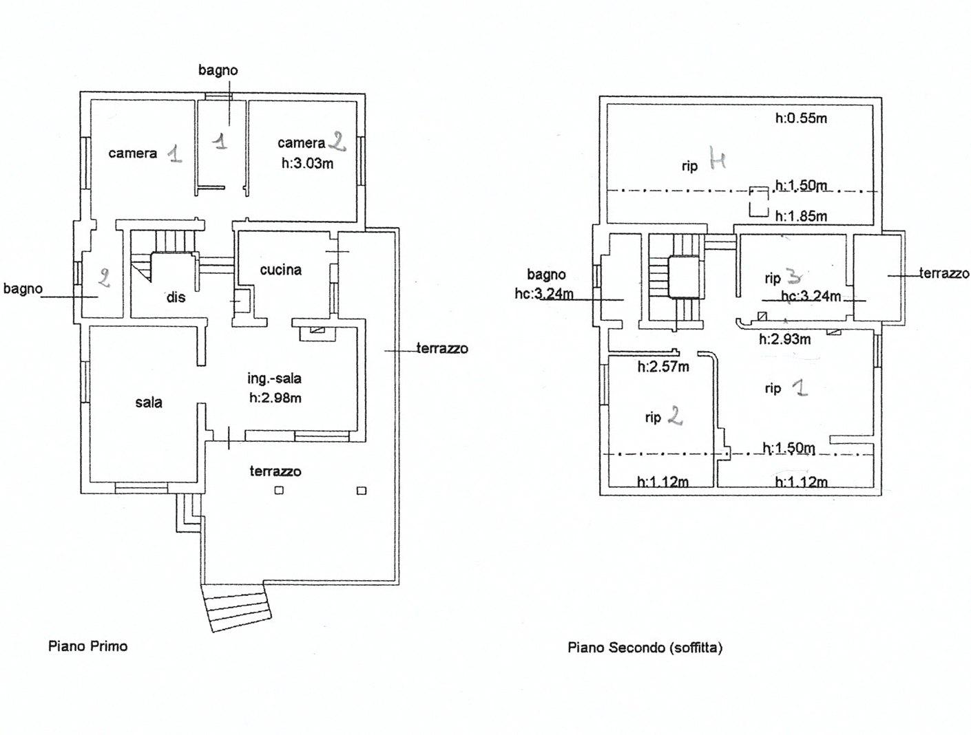 Planimetria 2/2 per rif. E001R