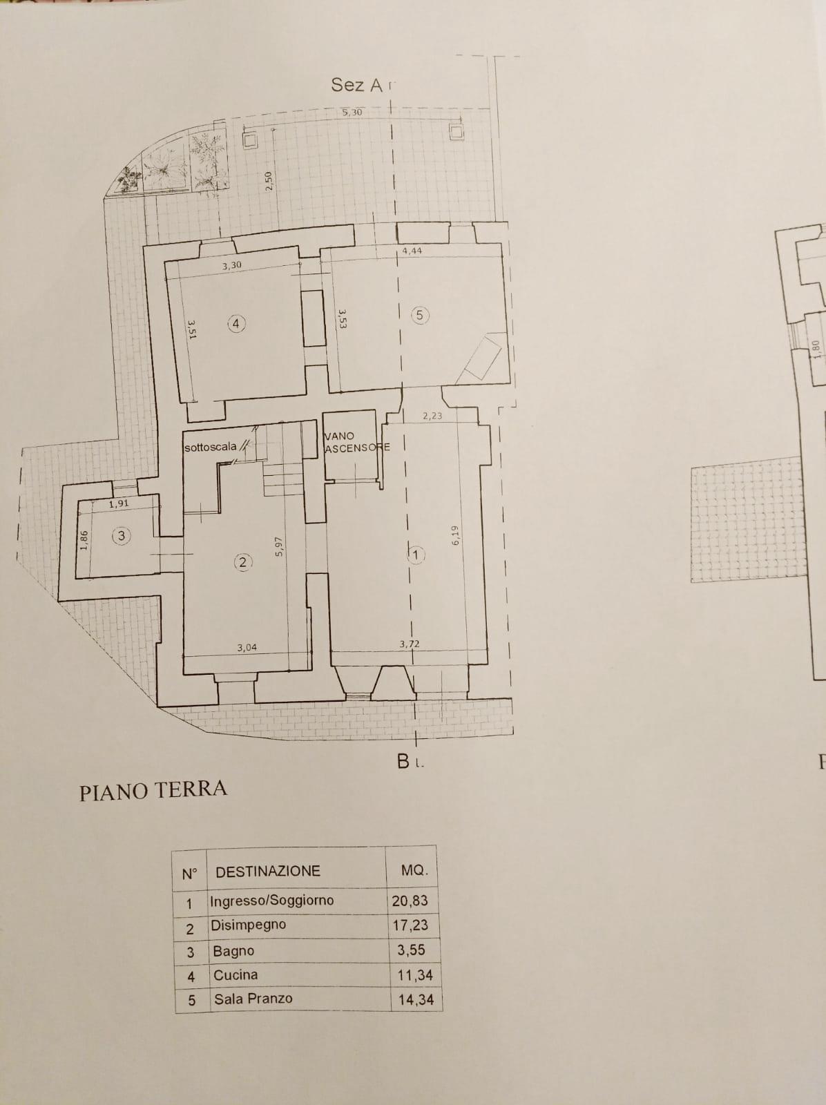 Planimetria 1/4 per rif. N078SU