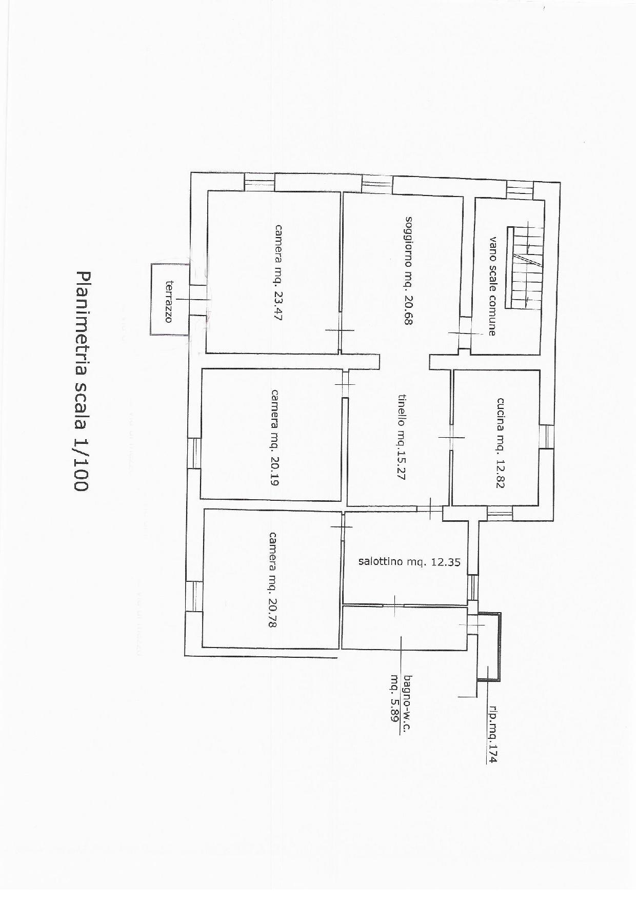Planimetria 1/1 per rif. E019S