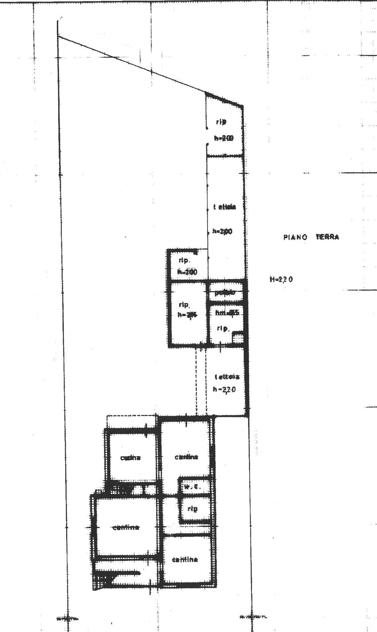 Planimetria 1/2 per rif. E007J